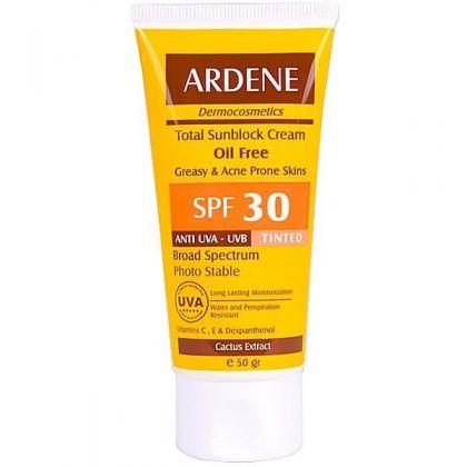کرم ضد آفتاب آردن رنگی  SPF 30